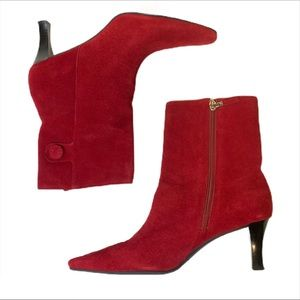 Unisa Red Suede Boots